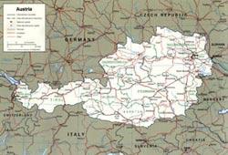 Harta  Austria