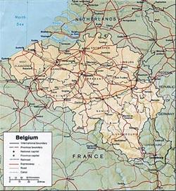 Harta Belgia Harta Belgiei Informatii Harta Rutiera Harti