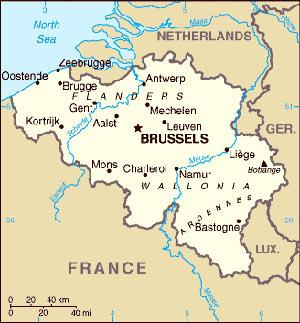 Harta  Belgia