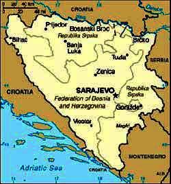 Harta Bosnia Hertegovina Harta Bosniei Informatii Harta