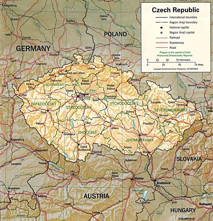 Harta Cehia Harta Cehia Informatii Harta Rutiera Harti