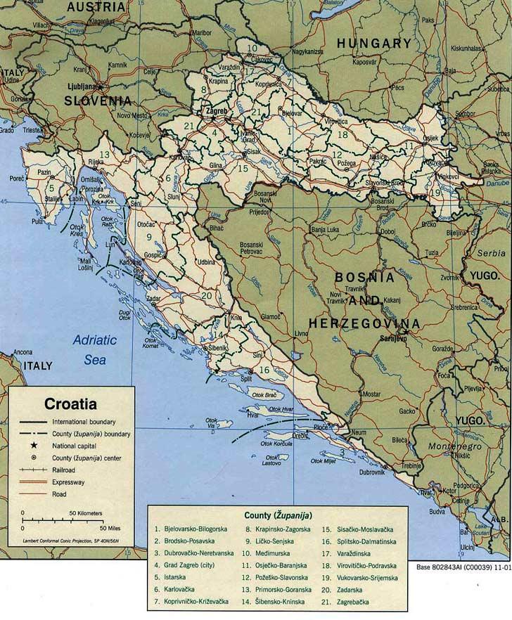 Harta Croatia Harta Croatiei Informatii Harta Rutiera Harti