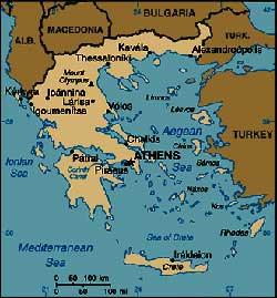 harta greciei panorama