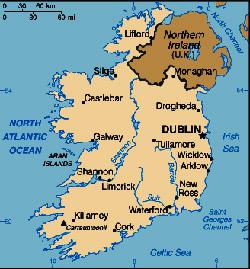 Harta Irlanda Harta Irlandei Informatii Harta Rutiera Harti