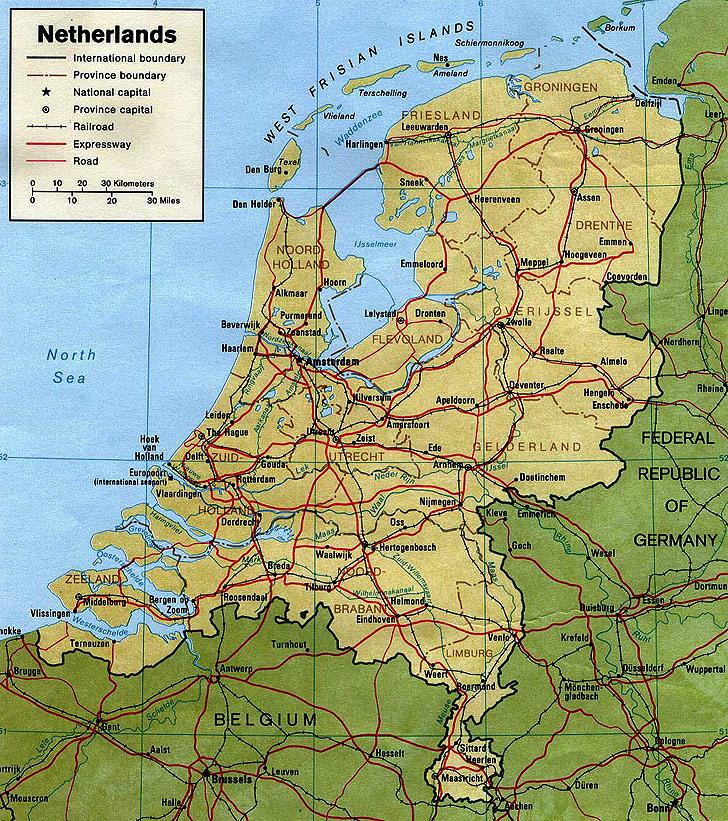 Harta Olanda Harta Olandei Informatii Harta Rutiera Harti