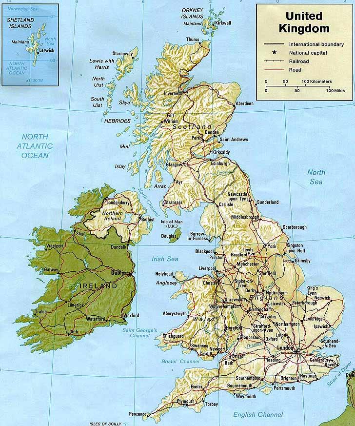 Harta Marea Britanie Harta Marii Britanii Informatii Harta